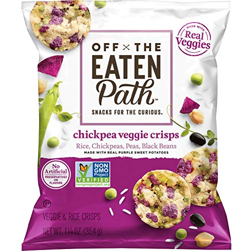 Off The Eaten Path Chickpea Veggie Crisps with Real Purple Sweet Potatoes, 16 Count