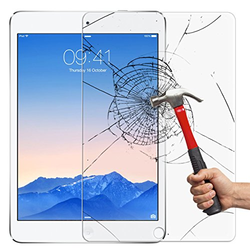 (1 Pack) New IPad (2017&2018) / IPad Air/IPad Air2/IPad Pro (9.7 Inch) Screen Protector, Etrech 9H Hardness High Response 3D Touch Crystal Clear Tempered Glass - Scratch Resistant