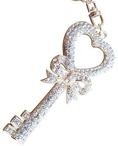 AM Landen Elegant Rhinestone Bling Key-chains Series(Love Key C)