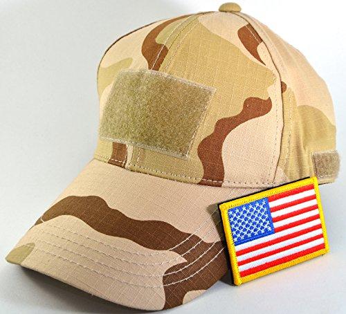 Ranger Return Tactical Military Tri-Color Army Camo Camouflage Baseball Adjustable Hat Cap with USA Flag Patch
