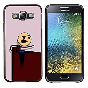 LECELL--Funda protectora / Cubierta / Piel For Samsung Galaxy E5 E500 -- Muchacho que come --