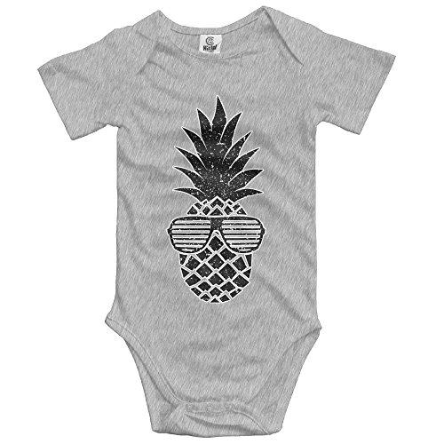 KunYBC 221 Baby Onesies Black Sunglasses Pineapple Unisex Toddler Bodysuit Summer Short Sleeves Romper - Sunglasses 221