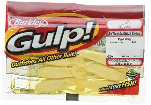 - Berkley Gulp Double Tail Minnow Grub Pearl White Fishing Bait, Multi, 4