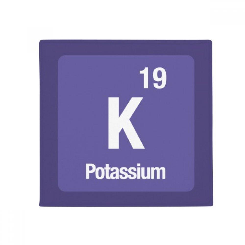 DIYthinker K Potassium Chemical Element Chem Anti-Slip Floor Pet Mat Square Home Kitchen Door 80Cm Gift