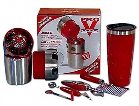 Acero inoxidable de alta calidad Pro V exprimidor Juice Extractor máquina de zumo exprimidor multifuncional Dropshipping/As seen on TV: Amazon.es: Bricolaje ...