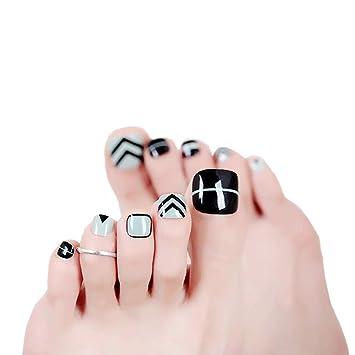 Amazon.com: MISUD - Esmalte de uñas postizas para dedos de ...