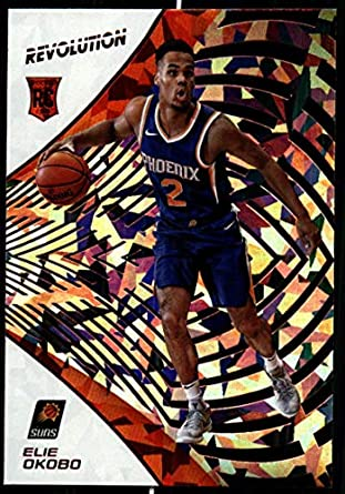 2018-19 Revolution Chinese New Year Red Parallel Basketball #110 Elie Okobo Phoenix Suns