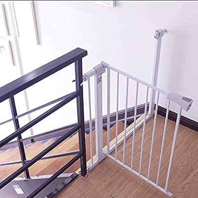 LNDDB Puertas para Mascotas Extra Altas y Anchas para Puertas Escalera Patio de Juegos Protector de Pared Metal Blanco Perro Perro Gato Puerta, 96 cm de Altura, 75-172 cm (Tamaño: Ancho 75-82