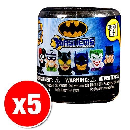 Batman Mash-em Series 1 Blind Pack (5 Random Figures Supplied) by tech4kids