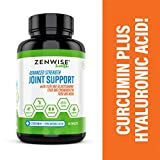 Glucosamine Chondroitin Sulfate MSM Curcumin - Joint Supplement with Hyaluronic Acid for Extra Strength Relief - Natural Health & Mobility Support for Pain, Aches & Soreness - 180 Tablets