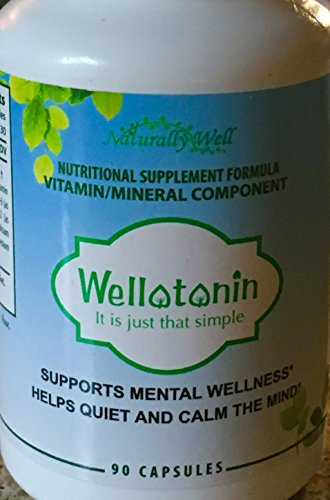 Mood Disorders - Depression, Anxiety, OCD, Anger Natural Supplement - Vitamin B Complex, Calcium and Magnesium. Wellotonin has Clinically Proven to Raise Brain Serotonin & Restore Good Mental Health.