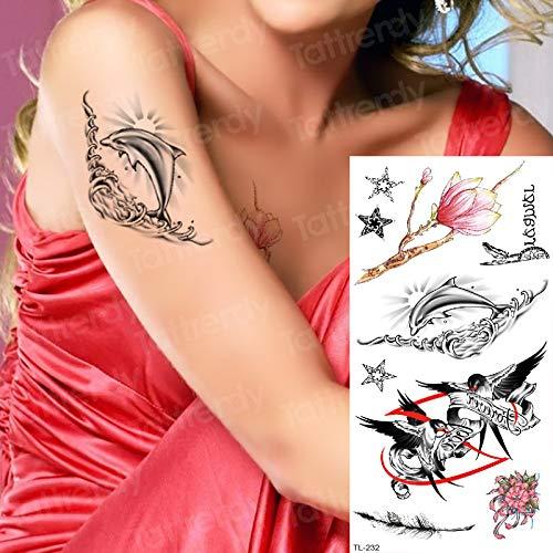 tzxdbh Tatuaje Temporal Mangas Tatuajes Brazo delfín mar ...