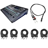 Soundcraft Si Impact 40-Input Digital Mixing Console with 5 AxcessAbles XLR-XLR20-2 Audio Cables and AxcessAbles TRS18-D14TS109 Audio Cable