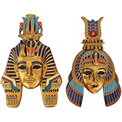 Design Toscano Masks of Egyptian Royalty Wall Sculptures (Set of 2)