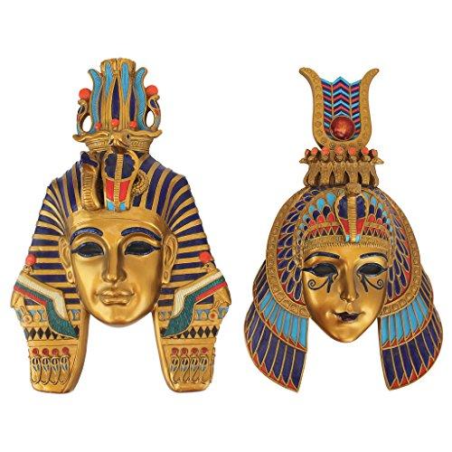 Design Toscano Masks of Egyptian Royalty Wall Sculptures (Set of 2)