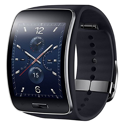 Samsung Gear S SM-R750 (S/K) Curved Super AMOLED Smart Watch (Black) - International Version No Warranty ()