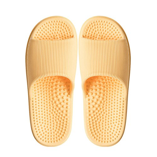 Sandals Beach Slippers Summer Anti Shower Massage Bath Yellow Slip Unisex Jiyaru pHwTqq7
