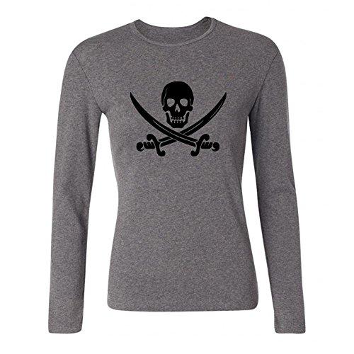 Kettyny Women's Kid's Ween Pirate Long Sleeve T Shirt