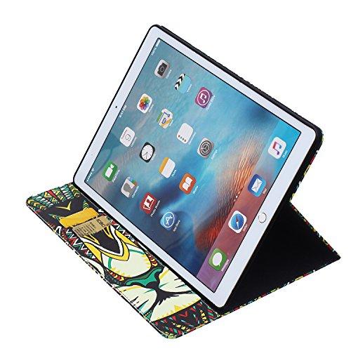 MACOOL patrón de impresión de la PU del estilo del libro de cuero caja del teléfono Klapptasche Caso en folio de la cubierta móvil para el de iPad Pro Caso Monedero Protección Shell cubierta de plásti 18PATTERN