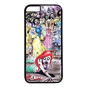 Custom Phone Case Custom Durable Hard Plastic Black Hard Plastic Case Cover for iPhone 6 with Bloom Color Flower