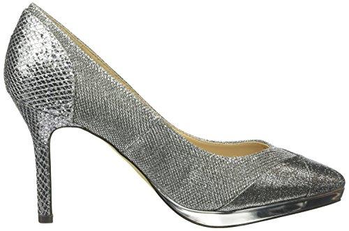 Mena Punta Zapatos de Cerrada Mujer Gris Tacón Silbergrau con Paco Guadalhorce para BnqdRWgZZc