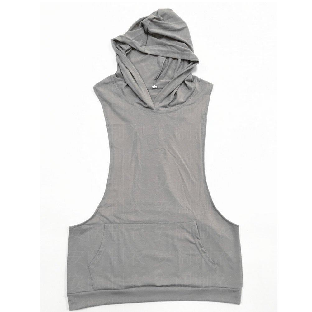 Robo Homme Débardeur Uni T-Shirt sans Manches Shirt Lâche Maillot de Corps  Sport Blouse Fitness Jogging 01ee7f22758a