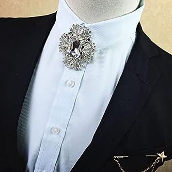 ZLYAYA,corbata,pajarita,Diamante de metal hombres corbata pajarita ...