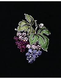 Grape Bunches Crystal Pin