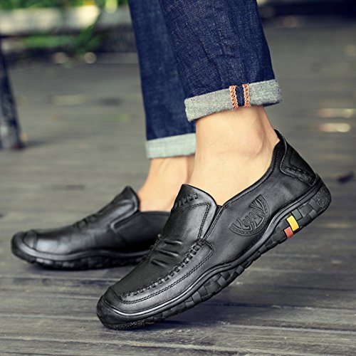 Mocassini Slip-on In Pelle Low-top Da Uomo Mocassini Casual Da Party Di Fine Settimana Neri
