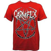 CARNIFEX Band Pentagram Hail Satan Red T-Shirt