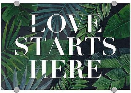 18x12 Love Starts Here Premium Acrylic Sign 5-Pack CGSignLab