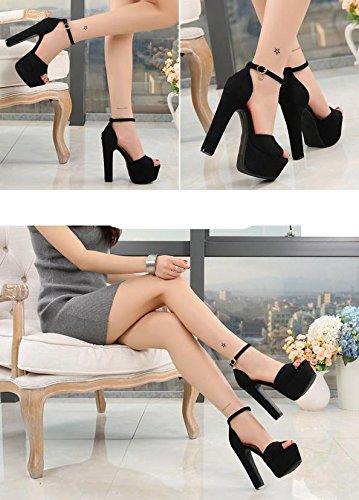MZG Las nuevas sandalias ásperas y femeninas son estupendas arriba con los zapatos de las mujeres del partido del club nocturno de los 14cm 1