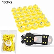 FIVE BEE Anti Slip Snow Ice Crampon Spikes- Durable Grips Grippers Crampon Cleats Shoes for Winter Outdoor Hik