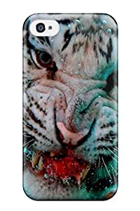 2015 5004699K50848677 New Premium Tiger Skin Case Cover Excellent Fitted For Iphone 4/4s