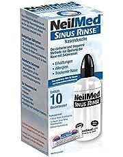 NeilMed Neusdouche helpt bij verkoudheid, verstopte neus, eenvoudig te gebruiken, direct leverbaar met 10 porties neusspoelzout