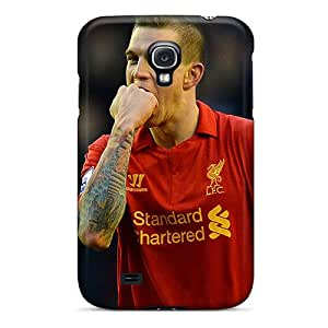 For Galaxy S4 Premium Tpu Case Cover The Player Of Liverpool Daniel Agger Is Biting His Fist Protective Case