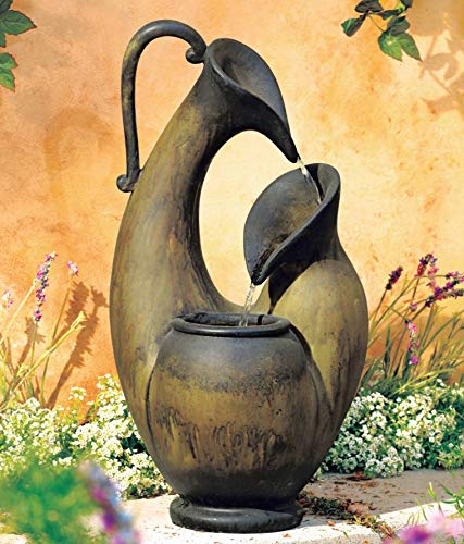 Pottery Fountain Water - John Timberland Weathered Jug 24
