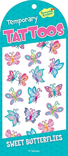 [Peaceable Kingdom Sweet Butterflies Temporary Tattoos] (Butterfly Tween Costumes)