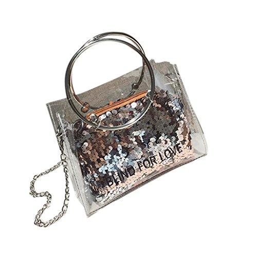 fourre Femme portatifs sacs Main sac à Sacs JIANGfu Cabas Jelly Or bandoulière Sac Femme Dame à Bag Laser tout mode main Sac transparent 7wddqSfF