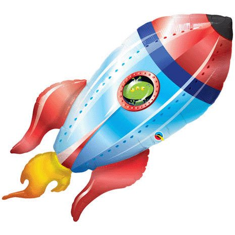 Alien Spaceship Jumbo Foil Balloon (Red/Blue) Party Accessory, Health Care Stuffs
