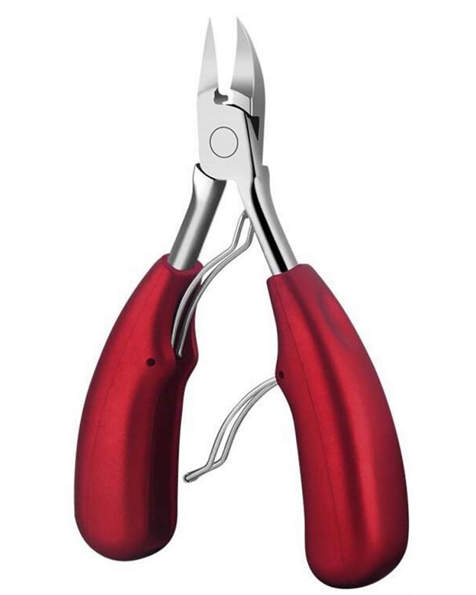 BeuFresh Toe Nail Clippers Heavy Duty Toenail Clippers for Thick Nails or Ingrown Toenails,Large Nail Nipper for Seniors, Berry Red