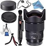 Sigma 20mm f/1.4 DG HSM Art Lens for Nikon EF #412955 + Lens Pen Cleaner + Fibercloth + Deluxe Cleaning Kit + Lens Capkeeper + Flexible Tripod Bundle