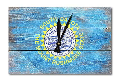 Rustic South Dakota State Flag (Acrylic Wall Clock)