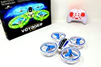 Super Bright Mini Drone UFO RC Quadcopter 2.4G 4CH 6 Axis with Headless Mode and ONE Button Key Return Home Switch Fantastic LED Lights for Night time Flying Great Drone For Kids 14+ from Paradise Treasures