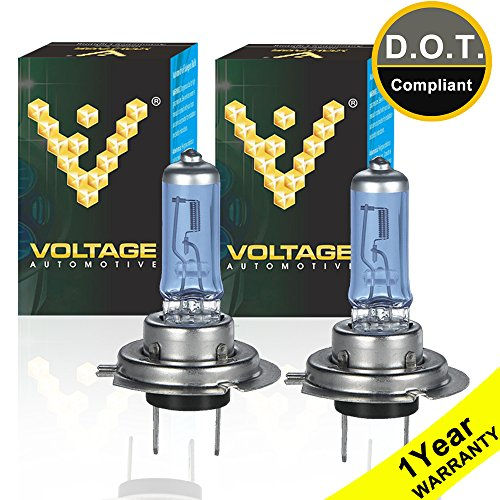 Voltage Automotive H7 Headlight Bulb Polarize Super White Bright Replacement For Car Motorcycle (Pair) - Professional Upgrade Headlight Bulb