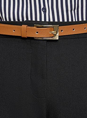 Nero Oodji Donna Collection Con Pantaloni 2900n Stretti Cintura xT4Ywaf8q