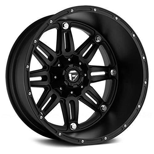 "Fuel D531 HOSTAGE DEEP LIP MATTE BLACK 20x14"" Matte Black - -76 offset"