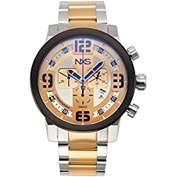 NXS Men's 'Moto' Swiss Made Ronda 5030.D Movement Surgical Grade 316L and Stainless Steel Watch(Model: 62624591)