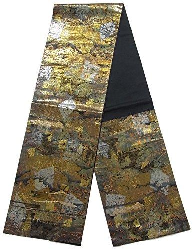 歌手挨拶する騒々しいリサイクル 袋帯 服部織物 金閣寺の風景 正絹 六通