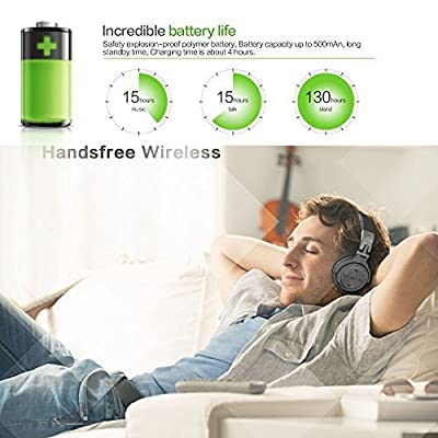 Langsdom® BT28 Wireless Foldable and Caracol Bluetooth Earphone Transform Wired Sharing Fun Earphone